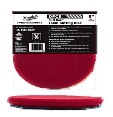 Meguiars Dfc5 Soft Buff Foam 5 Maroon Cutting Pad Disc For Da Polishers 10274 P