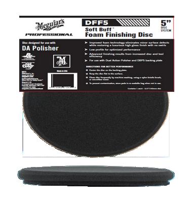 Meguiars Dff5 Soft Buff Foam Black 5 Finishing Pad Disc For Da Polishers 10276 P