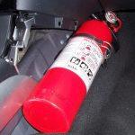 Lắp bình chữa cháy trong ô tô