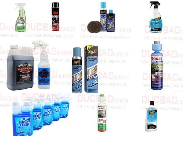 Các sản phẩm nước rửa kính ô tô chuyên dụng