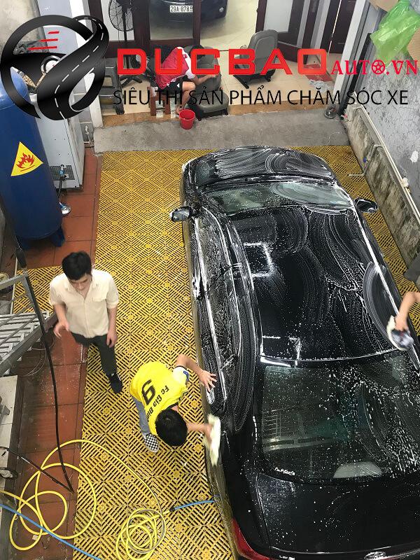 Rửa xe theo phương pháp truyền thống